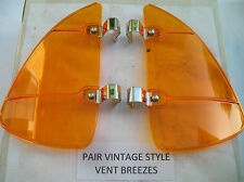 NEW PAIR OF AMBER COLORED VINTAGE STYLE AIR VENT DEFLECTORS !