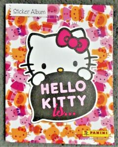 Panini Hello Kitty Is... Empty Sticker Album with 2 Sealed Sticker Packets - NEW