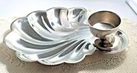 Sheffield Silver Company Silver Scallop Shell Serving Plate Tray 6612 Vintage