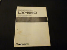 Original Bedienungsanleitung Pioneer LX-550