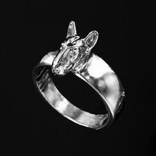 Bague Chien BULL TERRIER 3D -  Ring BULL TERRIER DOG  -  Argent Massif  925/1000