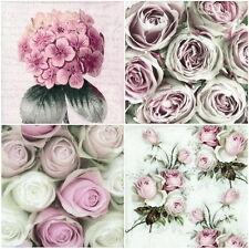 Papel 4x Servilletas Para Decoupage Craft Sagen romántico Flores-Mix