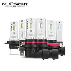 NOVSIGHT H1 H3 H7 H11 HB3 HB4 LED Headlight Kit 6000K 2000LM Fog Lights Bulbs RH
