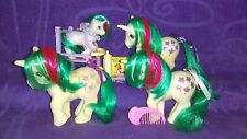 My Little Pony G1 Unicorn Gusty Lot with UK Non So-Soft, BBE Baby & Accessories
