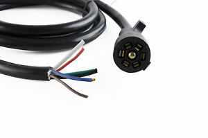 7 way Trailer cable 10AWG Black