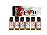 Premium Grade Fragrance Oil- I Love You - Gift Set 6/10ml,Forget me not, Plumeri