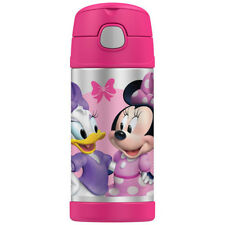 THERMOS Funtainer 355ml Vacuum Insulated Beverage Bottle Disney Minnie Mouse!