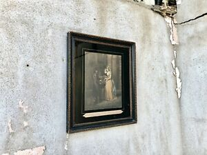 Antique Cries of London Print - Painted Glass in Frame
