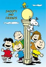 PEANUTS ~ LIGHT POLE CAST 27x40 CARTOON POSTER Schulz Snoopy Charlie Brown