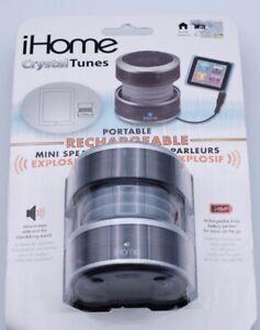 iHome 3.5mm AUX Portable Speaker IM60UT - Gray Translucent