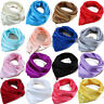 NEW ARRIVAL SOLID PLAIN  Square soft Scarf Silky Kerchief Head Wrap Neck Satin