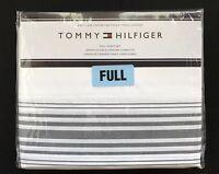 NIP Tommy Hilfiger Gray Charcoal Baja Stripe FULL Size Sheet Set 4 Piece