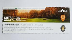 Golf Greenfee Gutschein 2für1 Frankfurter Golf Club e.V. - Saison 2021