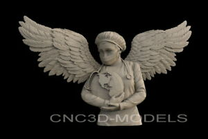 3D Model STL File CNC Artcam Aspire Vcarve Nurse DOCTOR ANGEL Stay Home IS704