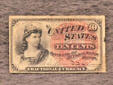 1863 Us Fractional Currency National Bank Note 10 Ten Cents Note Act of March 3