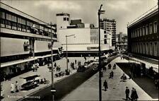 Rotterdam Holland Postkarte 1955 gelaufen Blick in den Binnenweg Autos Personen