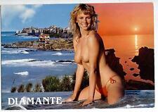 Diamante Salerno PIN UP Sexy Nude Beach Girl Topless PC Viaggiata 1986