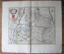 c1640 Navarra Spanien Espana Pamplona Kolorierte Kupferstich Landkarte