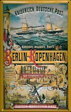 Kaiserlich Deutsche Post Blechschild Schild 3D geprägt Tin Sign 20 x 30 cm