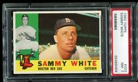 1960 Topps Baseball #203 SAMMY WHITE Boston Red Sox PSA 7 NM