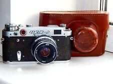 VINTAGE FED-2 35mm Soviet Film Camera (copy Leica) w/s lens industar-61 EXC