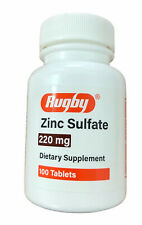 Rugby Zinc Sulfate 220mg 100 Tablets