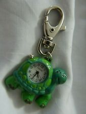 TURTLE OVERLOAD KEYCHAIN CLIP WATCH new battery !!! A10