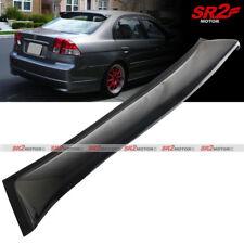 Rear Roof Window Visor Guard Spoiler Lip Wing fits 2001-2005 Honda Civic Sedan
