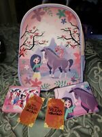 Loungefly Disney Mulan & Friends Canvas-Faced Mini Backpack + Card Holder + Coin