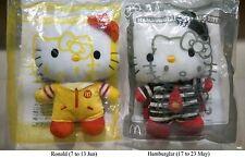 McDonald's Hello Kitty Plushies - Hamburglar, Grimace, Birdie & Ronald