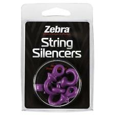 Zebra / Monkey Tails String Silencer Purple 4 Pack