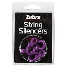 Zebra / Monkey Tails String Silencer Purple 4 Pack