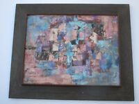 JEAN LEE PAINTING SIGNED MODERNIST ABSTRACT EXPRESSIONISM NON OBJECTIVE COLORS