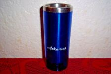 Arkansas Blue Tall Plastic Shot Glass 3-1/2 oz