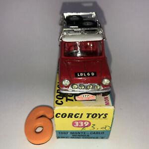 #6 CORGI Toys #339 - 1967 Monte Carlo winner BMC Mini Cooper S in PICTORIAL BOX