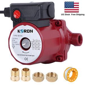NPT3/4'' Hot Water Circulation Pump 110-120V Circulator/Recirculating Pump 3-Spd