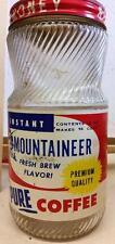 Vtg Mountaineer Coffee Jar Buckhannon Wv West Virginia Rare Lid Paper label #2