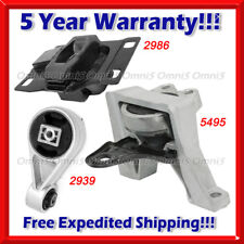M501 Fits 2010-2013 Ford Transit Connect 2.0L Engine Motor & Trans Mount Set 3pc