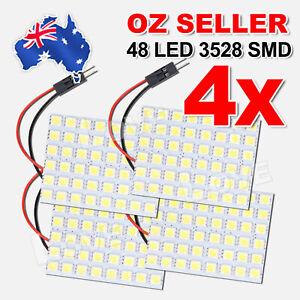 4x 48 LED 3528 SMD 12V Car Interior Lights Panel Bulb Lamp T10 BA9S Dome Festoon
