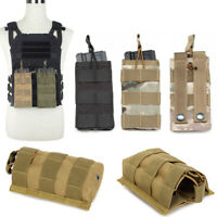 Tactical MOLLE Single .223/5.56mm Open Top Mag Magazine Pouch Military Hunting