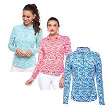 2020 Ibkul Long Sleeve Polo 41408 Venetian Tiles Jade - L