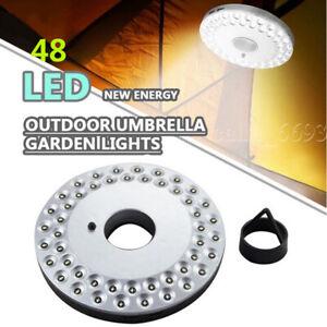 48 LEDs Patio Umbrella Parasol Lights 3 Brightness Mode Garden Camping Lamp