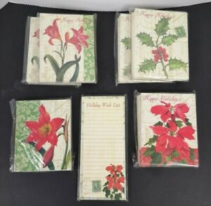 Paula Scalletti Lot of 6 Happy Holidays Christmas Cards 10 pack(s) + Note Pad