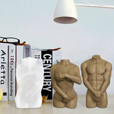 2Pcs Body Candle Mold Female Male Silicone Resin Casting Wax Soap Making