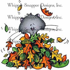 Autumn Fall Fun Kitty, Unmounted Rubber Stamp Whipper Snapper Designs New, LY827