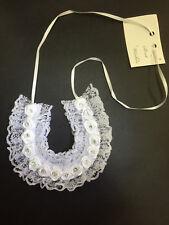 White Lace Horseshoe Wedding Charm Horse Shoe Bridal Charm Good Luck Charm