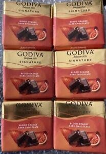 6 package of 60g : 360g Godiva blood orange dark CHOCOLATE Turkish