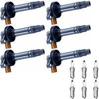 Spark Plug & Racing Engine Ignition Coil Set For Ford F-150 FX2 FX4 Cab 3.5L V6