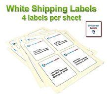 4 Labels Per Sheet 4 X 5 Per Label High Premium Quality Made In The Usa