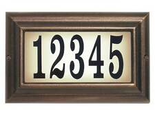 Edgewood, Ltl-1301-Ac, Large lighted address sign in Antique Copper